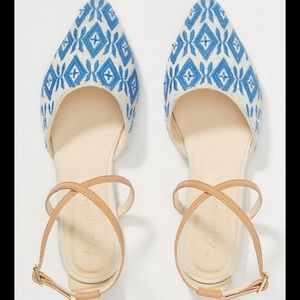 Anthropologie Laurie strappy flats